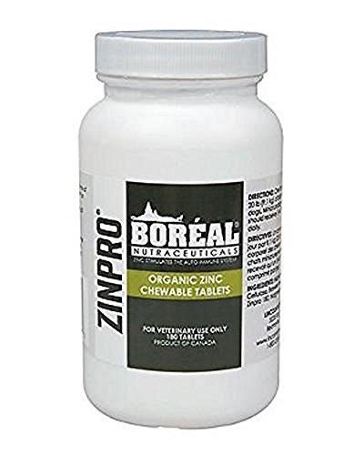 Boreal Zinpro Organic Zinc Chewable Tablets - 180 Count