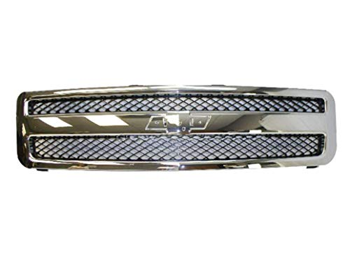 2007-2013 CHEVY SILVERADO 1500 PICKUP GRILLE CHROME/BLACK GM1200572