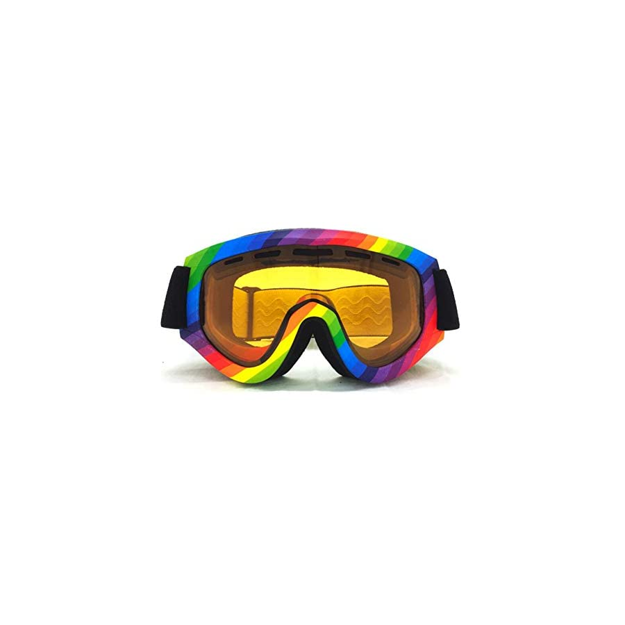 He yanjing Ski Goggles,Double Anti Fog Glasses,Coke Myopia Goggles,Day and Night ski Goggles,Male and Female Outdoor Windshield