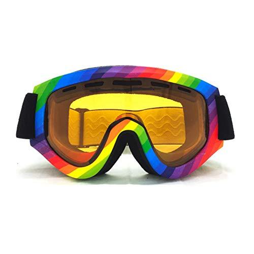 He-yanjing Ski Goggles,Double Anti-Fog Glasses,Coke