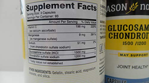 Mason Glucosamine/Chondroitin Maximum Strength 280 Capsules by Mason  (Image #1)