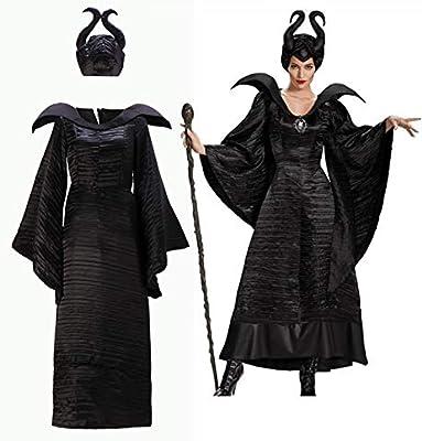 Disfraces de terror GJBXP Disfraz de maléfica Disfraz de bruja Disfraz de bruja de demonio Disfraces Disfraces de Halloween para mujer Tallas grandes L Negro: Amazon.es: Belleza