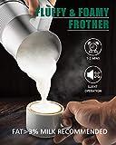 HUOGARY Milk Frother, Milk Steamer for Milk Foam