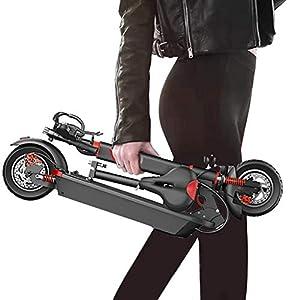 41 TB-Scooter Monopattino Elettrico 500 W 48 V, Easy-Folding Regolabile in Altezza, con Sistema Ammortizzatore Anteriore e…