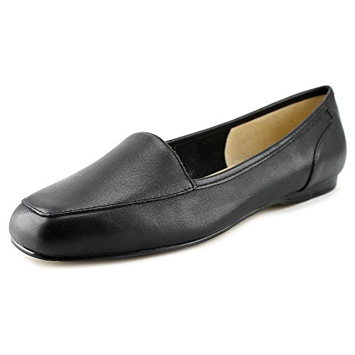 Bandolino Women's Liberty Flat,Black Leather,US 8 N