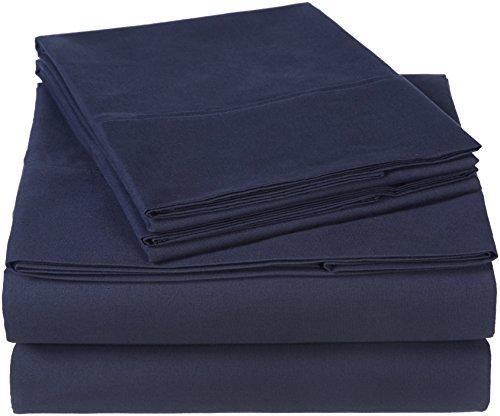 Pinzon 300 Thread Count Organic Cotton Sheet Set - Cal King, Navy Blue
