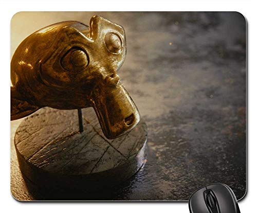Mouse Pads - Suzanne 3D Blender Monkey Wallpaper Gold Marble ()