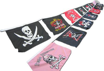 Pennant Flags Pirate (Pirate - 25' String Banner)