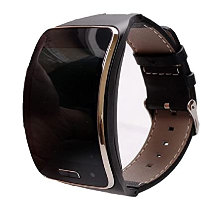 Hagibis replacement wristband Samsung Galaxy Gear S R750W Smart Watch,Easy to install easy to dismantle, (black)