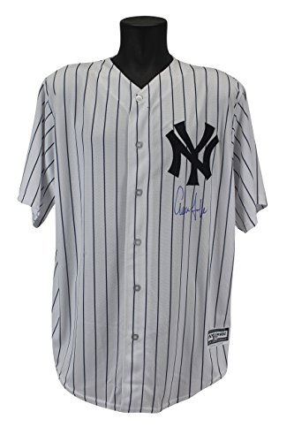 Yankees Aaron Judge Signed Majestic Coolbase White Pinstripe Jersey BAS (Signed Yankees White Pinstripe Jersey)