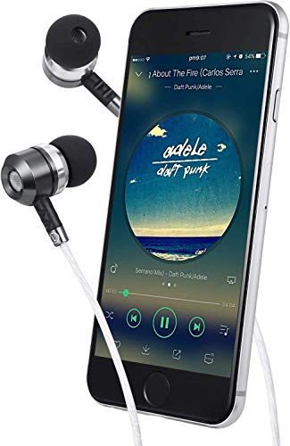 Sephia SP3060 Earbuds, Wired in-Ear Headphones with Tangle-Free Cord, Noise Isolating, Bass Driven Sound, Metal Earphones, Carry Case, Ear Bud Tips