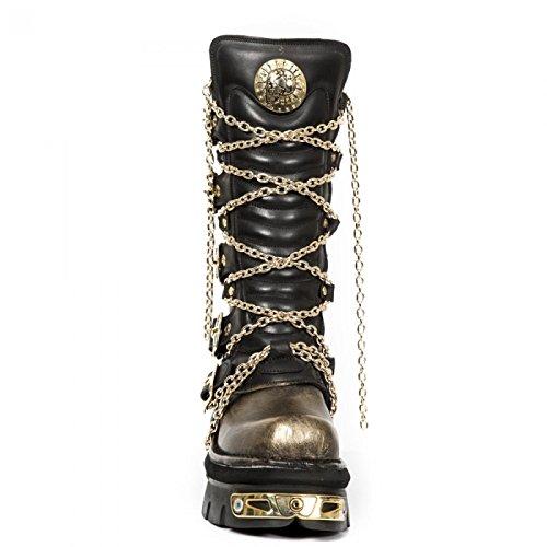 New Rock Boots M.1013-c3 Hardrock Punk Gotico Unisex Stiefel Schwarz