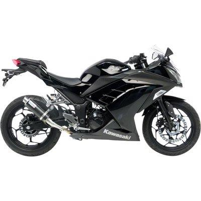 13-17 Kawasaki EX300: Leo Vince SBK GP Corsa Slip-On Exhaust (Carbon Fiber) ()