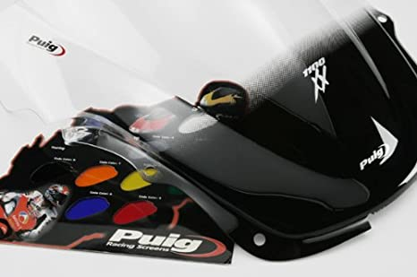 (97-08) HONDA CBR1100XX SUPER BLACK BIRD [DARK SMOKE] カウル スクリーン Puig 0283F RACING-SCREEN プーチ