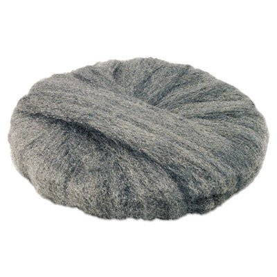 GMT 120192 Radial Steel Wool Pads, Grade 2 (Coarse): Stripping/Scrubbing, 19'', Gray (Case of 12) by Global Material Technologies