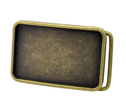 [Bronze Blank Belt Buckle Rectangle] (Month Belt Buckle)