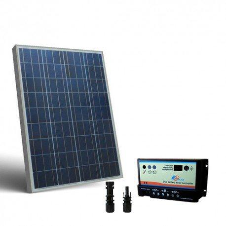 Kit solar Wohnmobil 100W 12V, Photovoltaik Regler für zwei Batterien