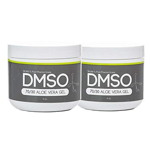 2 Jar special of 4oz DMSO Gel BPA FREE 99.995% Non Diluted, Low Odor Pharma Grade DMSO Dimethyl Sulfoxide