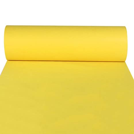 JIAJUAN Aisle Runners Yellow Disposable Carpet For Weddings T-stage Catwalk Opening Ceremony Event Performance Rugs Color : 2mm, Size : 1x10m