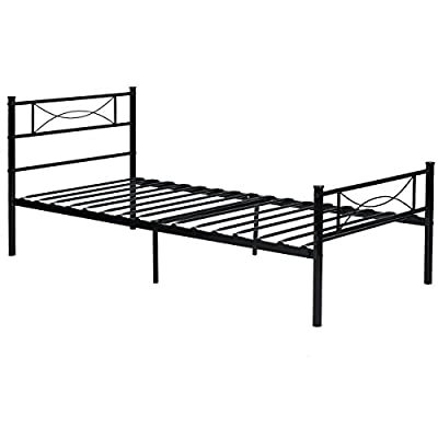 Black Full Twin Size Metal Bed Frames