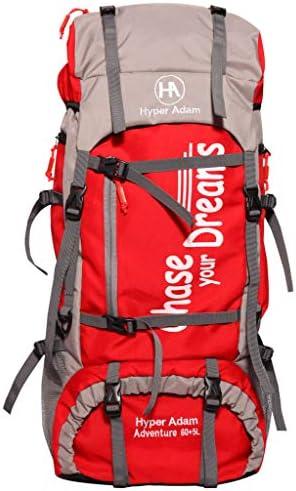 Hyper Adam 65 L Water Resistant Rucksack Hiking Backpack/Bag for Trekking/Camping/Travel/Outdoor Sport (Red)