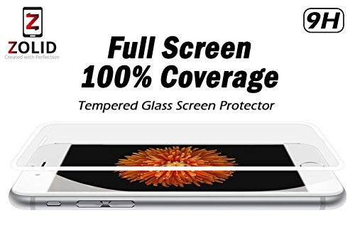 iPhone 6 Plus Screen Protector Tempered Glass - Ballistic Glass Screen Protector - Edge to Edge Cover - Ultra Strong 9H Hardness - Ultra HD Clear - Oleophobic Nano Coating - Protect Your Screen from Scratches and Drops and Avoid Screen Replacement - Anti Glare and Mirror - Easy Bubblefree Installation - The BEST Accessories and Screen Protection for your Apple iPhone