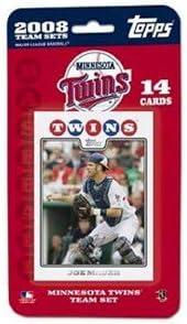 Topps MLB Baseball Cards 2008 Minnesota Twins 14 Card Team Set