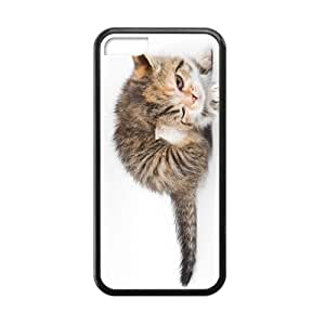 Cute Cat Blinking Eyes Black Phone Case for Iphone 5C