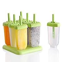 easyshop 6pcs DIY Eiscreme Form Eisstock Popsicle Maker