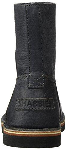 Shabbies Amsterdam Ladies 16cm Booty Stitchdown Flat 1 cm Matching Norfolk Sole Last Alissa, Zapatillas de Estar por Casa para Mujer Negro - negro