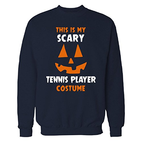 This Is My Scary Tennis Player Costume Halloween Gift - Sweatshirt Navy_blue 4XL