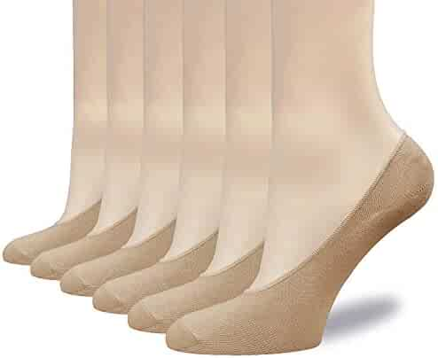 aff9a921316f3 6 to 8 Pairs Women's No Show Socks Thin Casual Cotton Ultra Low Cut Sock for
