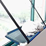 Cheap Lightton Cat Window Perches,cat Hammock Pet Save Space,Mounted Cat Bed Sunny Seat Window Safety Cat Bed with 4 Heavy Duty Suction Cups 30 Lbs,One Year Guarantee (Black)