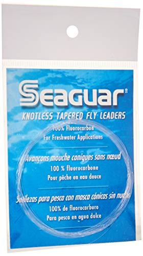 (Seaguar Knotless 9-Feet Fluorocarbon Tapered Leader, 5X)