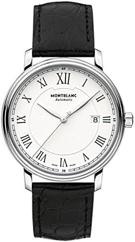 Montblanc Watches Reloj Analógico para Hombre de Automático con Correa en Cuero 112609