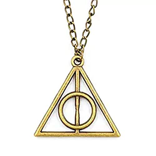Joyplancraft Harry Potter Necklace,retro Bronze Deathly Hallows Pendant Necklace,so Cute and Lovely Necklace,fashion Jewelry,friend Gift