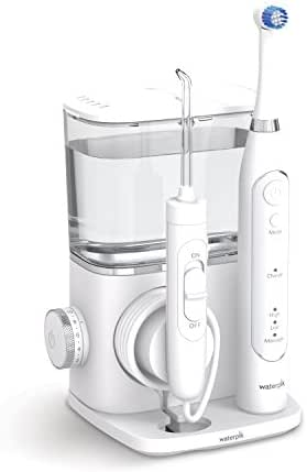 Waterpik Complete Care 9.5 Oscillating Electric Toothbrush + Water Flosser, White