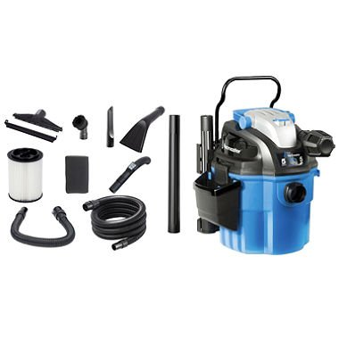 Vacmaster Wall Mount Wet/Dry Vac - 5 Peak HP - 5 Gal 0 by Vacmaster