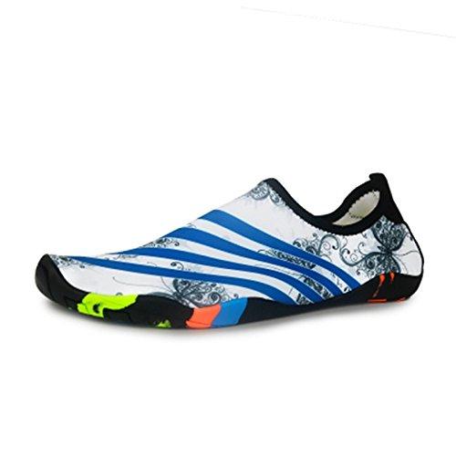 JUNHONGZHANG Natación Azul Barefoot Suaves Buceo El Patines Zapatos Snorkel Calzados Mariposa Adultos Estera Vadeando Playa Antideslizante Zapatos BBdwrqa