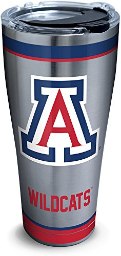 Tervis 1298176 Arizona Wildcats Tradition Insulated Tumbler, 30 oz Stainless Steel, Silver ()