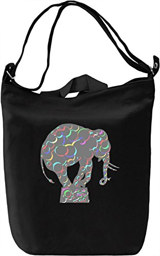 Elephant Print Borsa Giornaliera Canvas Canvas Day Bag| 100% Premium Cotton Canvas| DTG Printing|