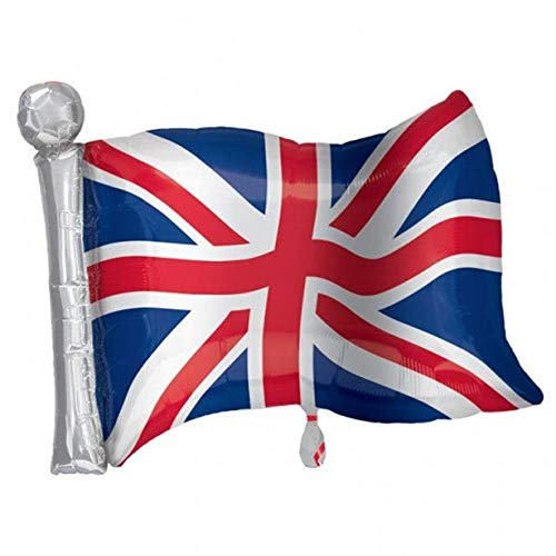 Union Jack Flag Supershape Foil Balloon]()