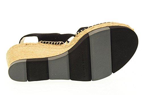PALOMA BARCELO' Sandalias de mujer zapatos de cuña con BUCM SUK1 NEGRO