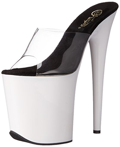 Women Neon Pleaser White C Dress Sandal Clear NW Flam801uv Platform Tgd6fnUqg