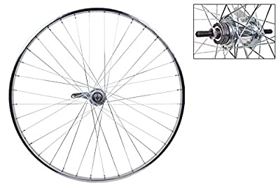 Wheel Master Rear Bicycle Wheel with Coaster Brake, 26 x 1 3/8 36H, Steel, Bolt On, Silver