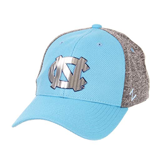 Zephyr NCAA North Carolina Tar Heels Mens Insignia Platinum Logo Hat, Team Color/Heather Gray, Medium/Large ()