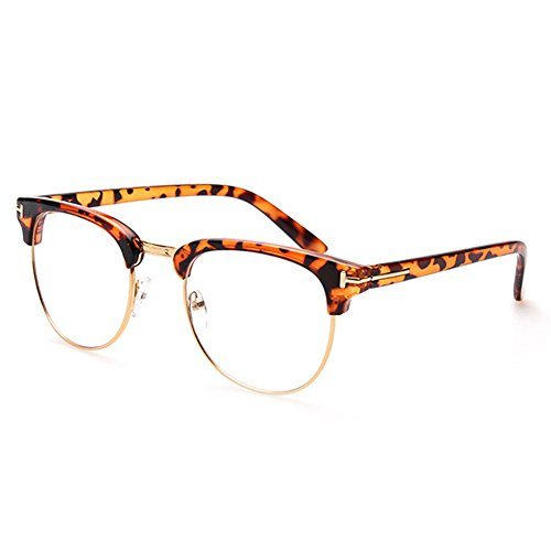 A-Royal Fashion Retro Student Style Clear Lens Big Frame Sunglasses - Specsavers Lenses Transition
