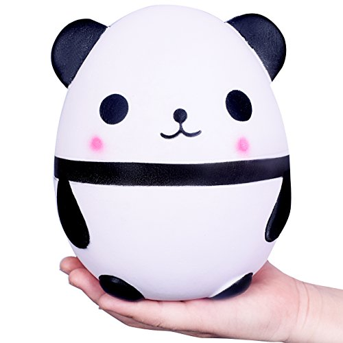 WeYingLe Squishy Jumbo Slow Rising Squishies Panda Car Star Kawaii Squishies Cream Scented Toys for Kids and Adults, Lovely Stress Relief Toy. Big size Panda (6 inch panda)
