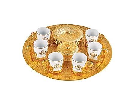 Premium chapado en Juego de café para turco, árabe, griega y ...