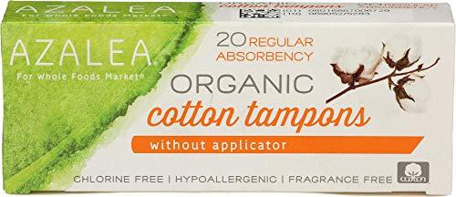 Azalea, Organic Cotton Tampons without Applicator, Regular, 20 ct